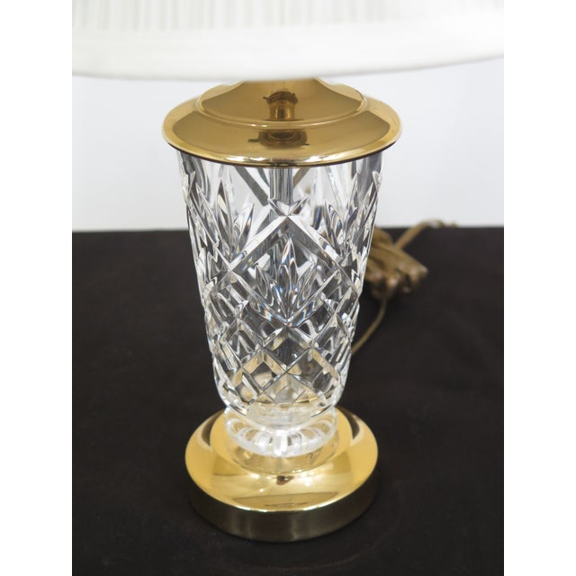 Waterford 1990s Traditional Waterford Crystal Table Lamp With Shade For Sale - Image 4 of 8