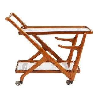Mid-Century Modern Cherry Wood Trolley For Sale