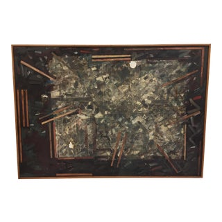 Frank Cole Encaustic Collage Painting For Sale