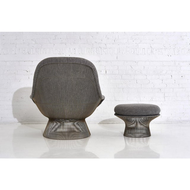 Warren Platner for Knoll Lounge Chair With Ottoman For Sale - Image 9 of 11