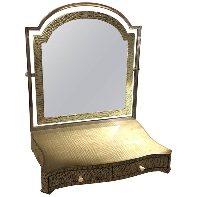 Theodore Alexander Vanity or Shaving Mirror For Sale - Image 11 of 11
