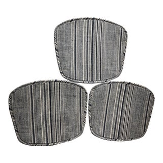 Custom Made Bertoia Chair Pads - Set of 3 For Sale