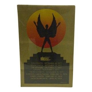 1978 Vintage Star Course Concert Series Concert Poster For Sale
