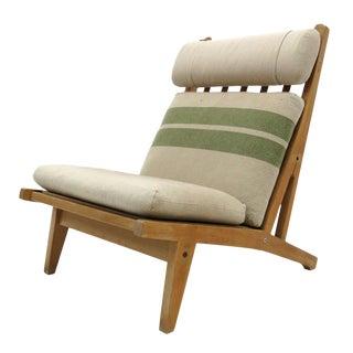 1960s Vintage Hans Wegner High Back Lounge Chair For Sale
