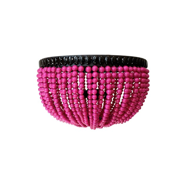 Contemporary Alexa Pink Flush Mount Fixture For Sale - Image 3 of 3