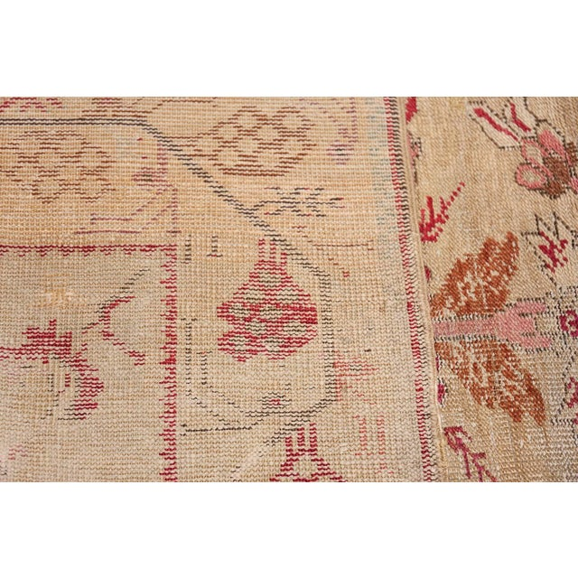 Islamic Antique Shabby Chic Tribal Turkish Ghiordes Rug - 3′5″ × 6′6″ For Sale - Image 3 of 10