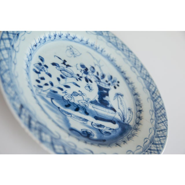 Mid 19th Century 19th-Century Antique Delft Plate Staples Restoration For Sale - Image 5 of 7
