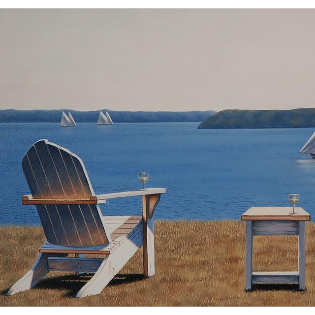 2010s Daniel Pollera, Afternoon Seating Painting, 2016 For Sale - Image 5 of 6