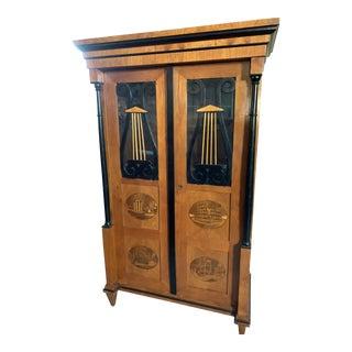 1860's Italian Biedermeier Style Cabinet For Sale