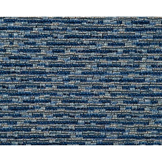 Hinson for the House of Scalamandre Rocket Fabric in Navy For Sale