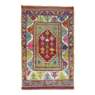 Antique Colorful Turkish Anatolinan Rug, 2'10'' X 4'1'' For Sale