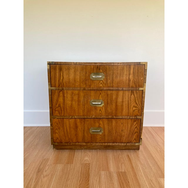 Late 20th Century Dixie Campaign 3 Drawer Dresser For Sale - Image 13 of 13