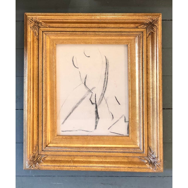 Gallery Wall Collection 3 Original Vintage Female Nude Charcoal Studies For Sale - Image 4 of 6