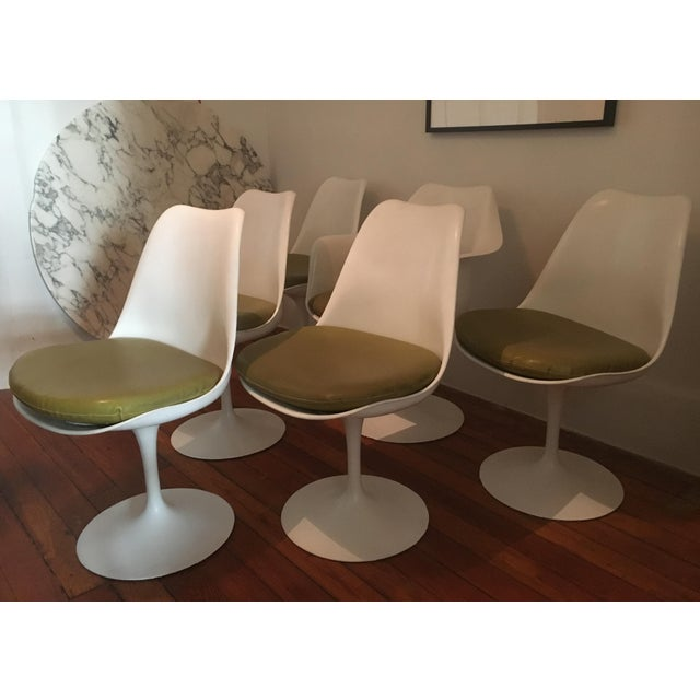 Contemporary 1960s Danish Modern Eero Saarinen for Knoll Tulip Chairs - Set of 6 For Sale - Image 3 of 10