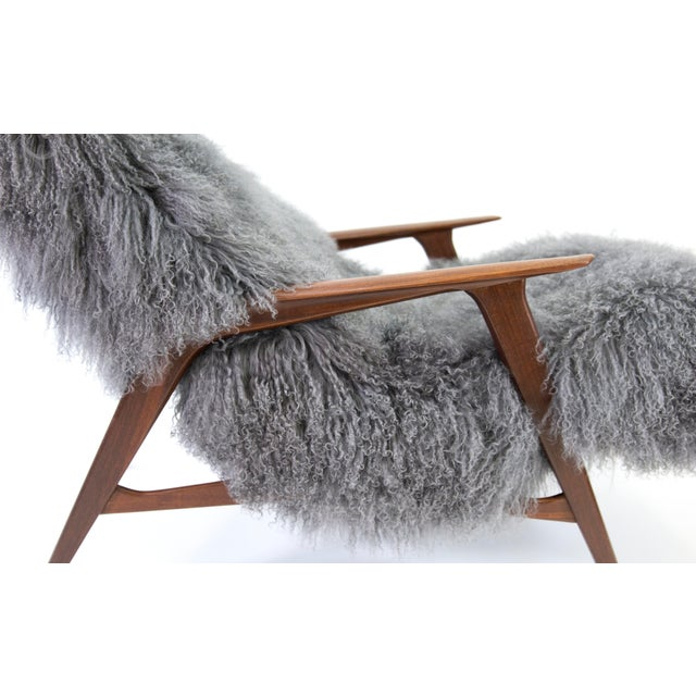 Gray Jio Mobler Siesta Chair in Mongolian Sheepskin For Sale - Image 8 of 11