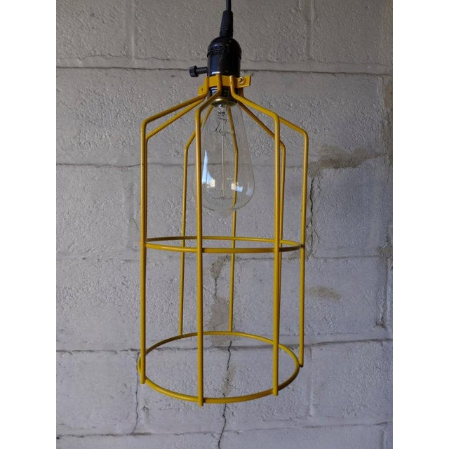 Canary Yellow Mid Century Styled Pendant Lamp For Sale In New York - Image 6 of 7