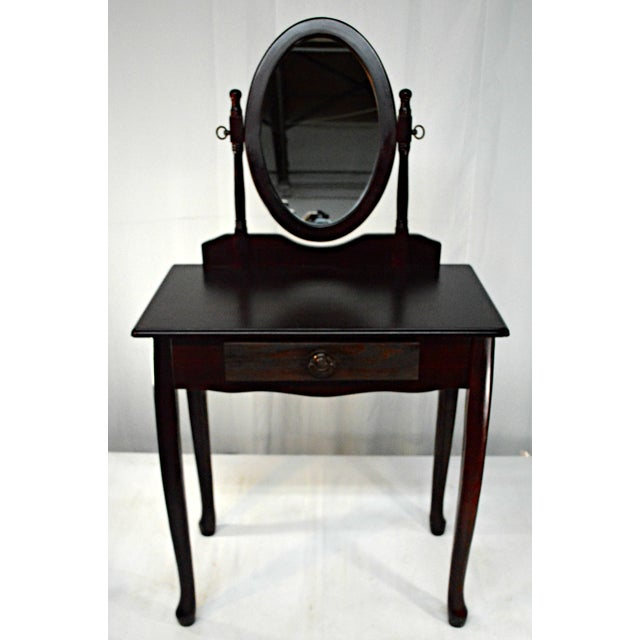Glass Cuban Mahogany Vanity For Sale - Image 7 of 10