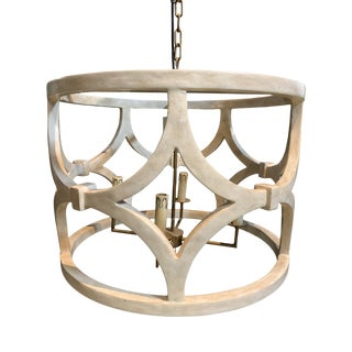Antiqued Smooth White Gesso Wolfgang Chandelier For Sale