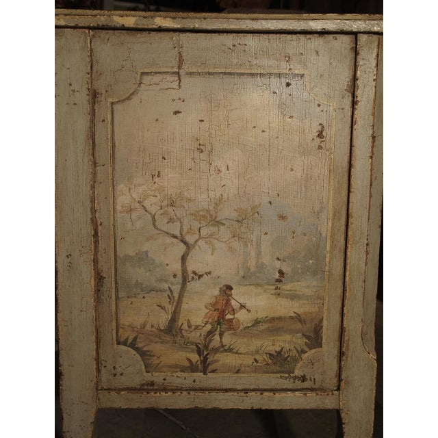Antique Painted Commode From Italy, 19th Century For Sale - Image 9 of 13