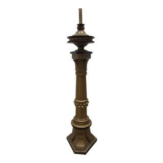 Antique Victorian Masonic Mason Taper Pole Lamp