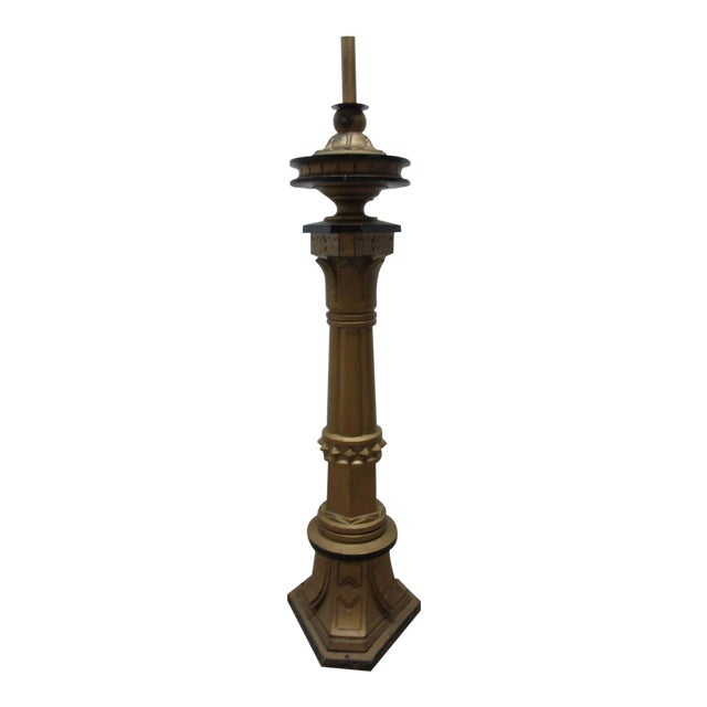 Antique Victorian Masonic Mason Taper Pole Lamp - Image 1 of 7