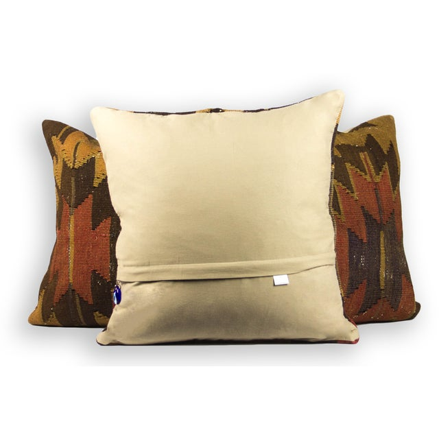 "20"" Square ""Earthy Aztec"" Colored Pillows - Set of 3 - Image 3 of 3"
