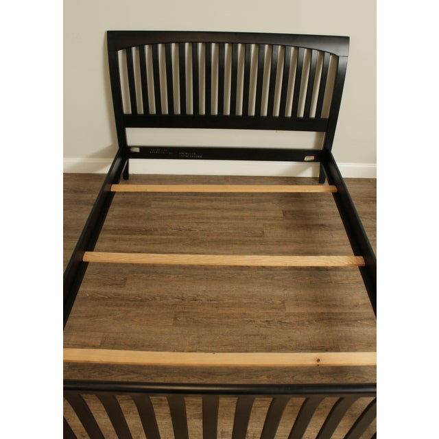 1990s Ethan Allen American Impressions Queen Size Black Sleigh Bed For Sale - Image 5 of 13