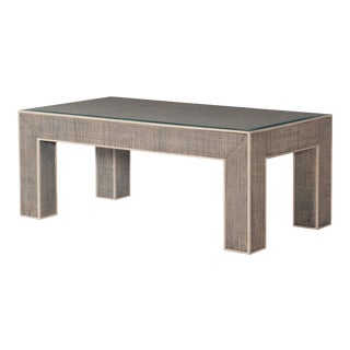 Century Furniture Newport Rectangular Coffee Table, French Grey and Peninsula For Sale