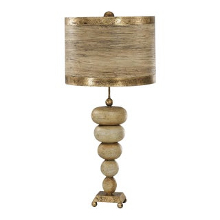 Retro Stone Stacked Table Lamp For Sale