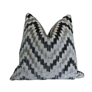Scalamandre Ankara Pillow, Smoke For Sale