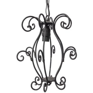 1940s Curly Iron Lantern Fixture For Sale