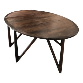 Kurt Ostervig Danish Teak Drop-Leaf Dining Table For Sale