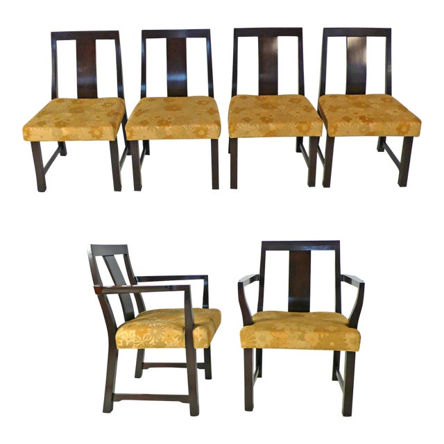 Modern 8 Edward Wormley Dining Chairs For Sale - Image 3 of 6