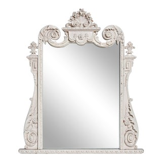 French Style White Mirror For Sale