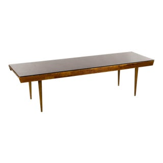 Mid-Century Modern Walnut Slat Bench For Sale