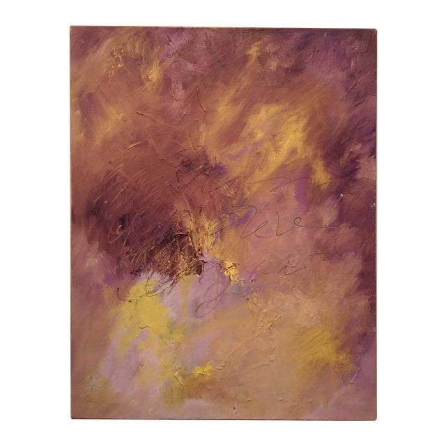 Original Oil on Canvas Abstract Modern Painting - Image 1 of 6