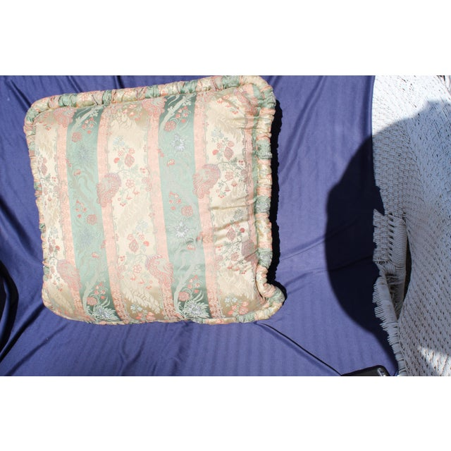 Silk 20th C. Two Difrernt Size of Possibly Italian Scalamandre Pillow For Sale - Image 7 of 10
