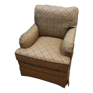 Stanford Small Club Chair in Floral Design For Sale