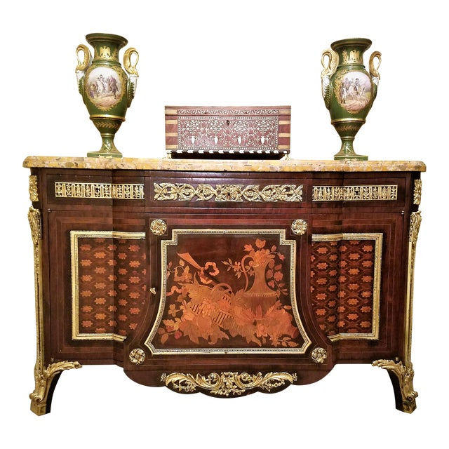 PRESENTING an ABSOLUTELY STUNNING 19th Century Louis XVI Style, Harewood and Kingwood Commode after the model made by Jean...