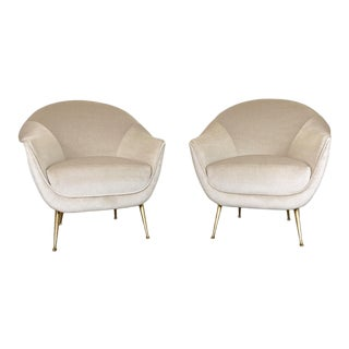 Mid Century Italian Lounge Chairs - a Pair For Sale
