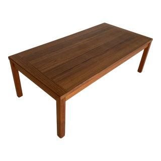 1970s Danish Teak Mid Century Coffee Table For Sale