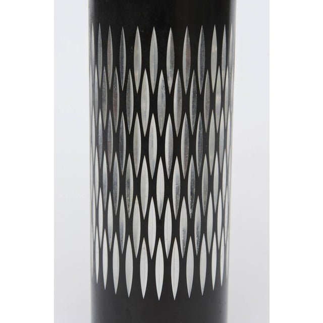 1960s Graphic Diamond Patterned Vase or Pen Holder For Sale - Image 5 of 8