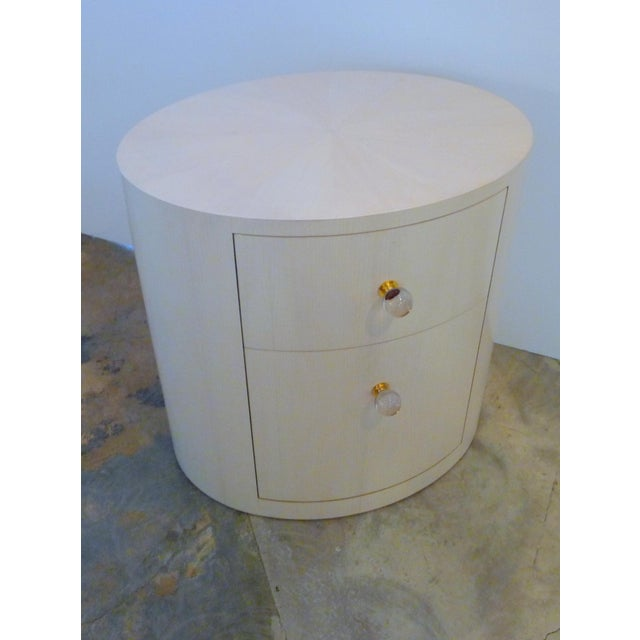 Paul Marra Italian-Inspired 1970S Style Oval Nightstand For Sale - Image 4 of 8