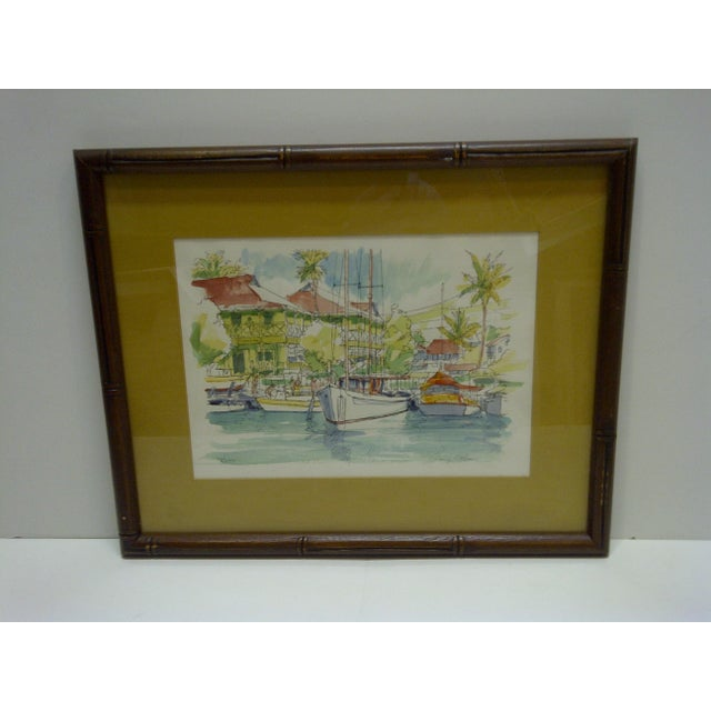 "This is a Limited Edition -- Numbered (27/200) And Signed Print -- Titled ""Pioneer Inn Harbor"" -- By George Allan -- Circa..."