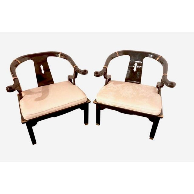 James Mont for Century Furniture Ming Horseshoe Chairs - a Pair - Image 6 of 6