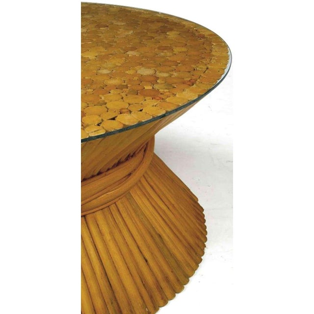 Sheaf Of Bamboo Coffee Table Attr McGuire - Image 4 of 7