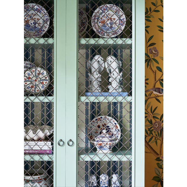 Traditional Traditional Green Painted Bookcase For Sale - Image 3 of 8