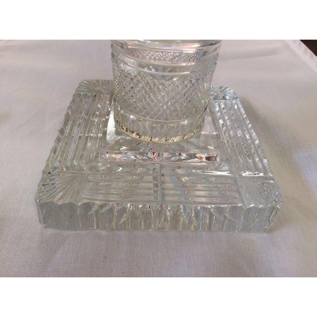 American Brilliant Period Covered Crystal Jars - a Pair 27'' H For Sale - Image 5 of 9