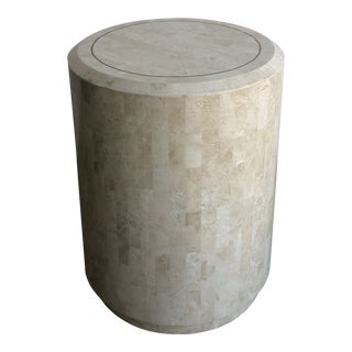 Tessellated Stone Pedestal by Maitland-Smith For Sale