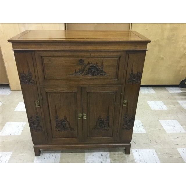 Chinese Carved Bar Cabinet - Image 9 of 9
